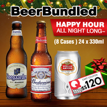 $600 Deal Bundle ~ Budweiser Bottles (24 x 330ml) | Hoegaarden White (24 x 330ml) |Stella Artois Cans (24 x 330ml) |Best Christmas Deal ~ All Night Long ~Happy Hours