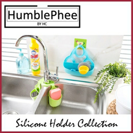 Sink Storage Sponge Holder Kitchen Toothpaste Handsoap Toothbrush Toiletries