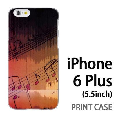 iPhone6 Plus (5.5インチ) 用『No3 楽譜』特殊印刷ケース【 iphone6 plus iphone アイフォン アイフォン6 プラス au docomo softbank Apple ケース プリント カバー スマホケース スマホカバー 】の画像