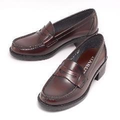 HARUTA ハルタ 4603 レディース ローファー 通学 学生 靴 3E ヒール高4.5cm足長モデル (B倉庫)の画像
