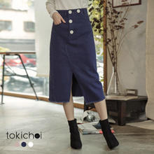TOKICHOI - Multi-color High Waist Denim Skirt-182068-Winter