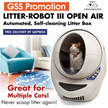 LITTER ROBOT III OPEN AIR - AUTOMATED CAT LITTER BOX WASTE DISPENSER