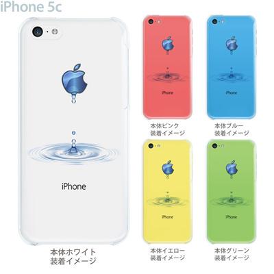 【iPhone5c】【iPhone5cケース】【iPhone5cカバー】【クリア カバー】【スマホケース】【クリアケース】【イラスト】【クリアーアーツ】【アップルマークから水が・・・】 08-ip5cp-ca0046の画像