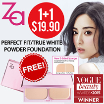 🌟FREE FOUNDATION CASE🌟1+1 $19.90 ONLY! 🌟TheBeautyQueen x ZA [Shiseido] 2 Way Foundation- True White / Perfect Fit/ Perfect Solution Youth Whitening Serum (30ml)/True White Day Protector