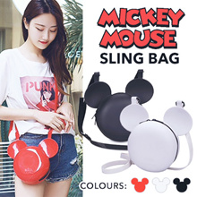 [READY STOCK] Mickey Mouse Sling Bag | 3 Colours | Mickey Mouse Ball Bag