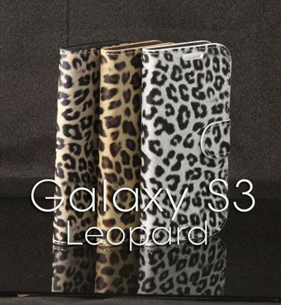 GALAXY S3 SC-06D/SC-03E対応 ケースカバー/ギャラクシーS3 docomo Samsung ギャラクシーS3ケース /Samsung ギャラクシーS3PUレザーケース スタイリッシュ ヒョウ ヒョウ、豹柄 ギャラクシー スタンドケースの画像
