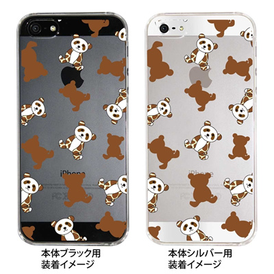 【iPhone5S】【iPhone5】【Clear Arts】【iPhone5ケース】【カバー】【スマホケース】【クリアケース】【アニマル】【パンダ】 22-ip5-ca0057の画像