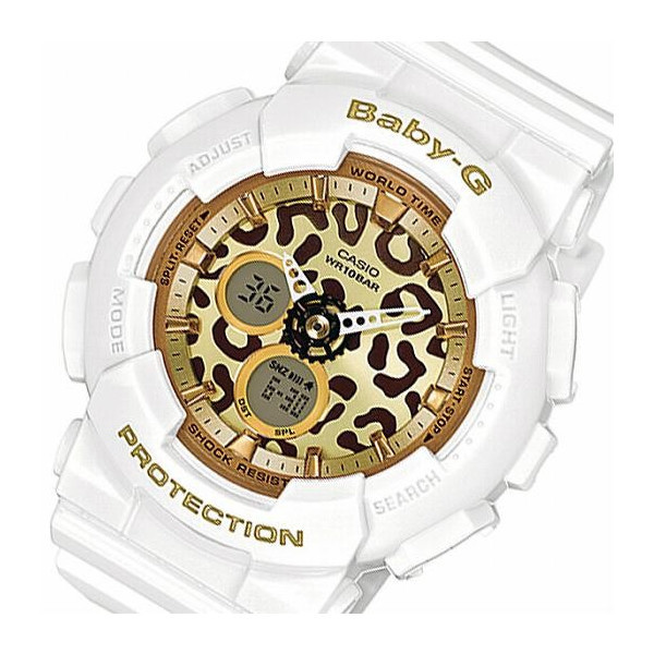 【クリックで詳細表示】カシオ ベビーG レオパード レディース 腕時計 BA-120LP-7A2JF ホワイト 国内正規