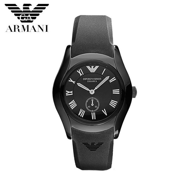 【クリックで詳細表示】EMPORIO ARMANI エンポリオ アルマーニ セラミック メンズ 腕時計 AR1432 ブラック 黒 ラバー クロノグラフ クオーツ カジュアルウォッチ