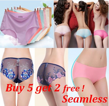 Buy 5 get 2 free!/Women underwear/lingerie/lady panties/seamless panty/sexy Lace panties/Nubra