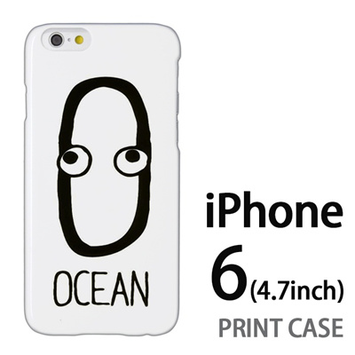 iPhone6 (4.7インチ) 用『0623 「O」』特殊印刷ケース【 iphone6 iphone アイフォン アイフォン6 au docomo softbank Apple ケース プリント カバー スマホケース スマホカバー 】の画像