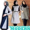 Blouse Muslimah masa kini - Baju muslim - Atasan hijab new update harga terjangkau model trendy - Good Prices