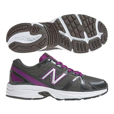 ニューバランス (New Balance) レディース WR360(ブラック×パープル) WR360BP3 [分類:エクササイズ・フィットネス ウォーキングシューズ (レディース)]の画像