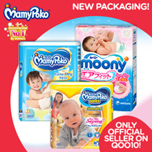 [Unicharm] 【USE YOUR $8 QOO10 COUPON NOW!】ONLY AUTHENTIC MAMYPOKO!! BEST Diapers ON QOO10!
