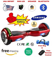★Samsung Batt Hoverboard★ [7/10 inch] Free Travel Bag + Remote Control / Free Bluetooth + RGB LED Upgrade / 12 Months SG Local Warranty / Free 1-2 Days Express Delivery / Segway / Scooter