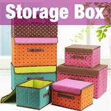★Storage Box★living box/ folding box / fabric box / adorable / socks / underwear organizer / home de