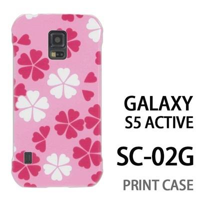 GALAXY S5 Active SC-02G 用『0904 落ち花 白ピンク』特殊印刷ケース【 galaxy s5 active SC-02G sc02g SC02G galaxys5 ギャラクシー ギャラクシーs5 アクティブ docomo ケース プリント カバー スマホケース スマホカバー】の画像