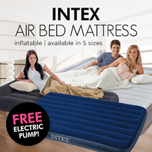 ★★ [MEGA SALE]Single Inflatable Downy INTEX Air bed Mattress/ Available in 5 Sizes/5 Models/FREE Electric Pump/Inflatable Mattress/Downy Bed/Air Mattress ★★