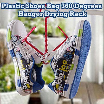 qoo10 plastic shoes bag 360 degrees hanger drying rack