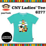 [Paul Frank] Celebrate CNY 2016 Monkey Year with Paul Frank Ladies Tee/Style 6277/Mint Green color. Size XS-L available. Free Qxpress Shipping/Store Pickup. 100% Authentic!