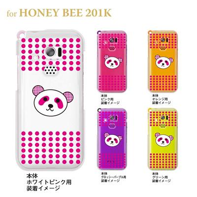 【HONEY BEE 201K】【201K】【Soft Bank】【ケース】【カバー】【スマホケース】【クリアケース】【アニマル】【パンダ】 22-201k-ca0051の画像