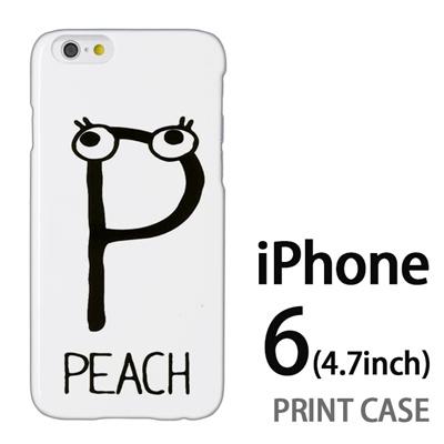 iPhone6 (4.7インチ) 用『0623 「P」』特殊印刷ケース【 iphone6 iphone アイフォン アイフォン6 au docomo softbank Apple ケース プリント カバー スマホケース スマホカバー 】の画像