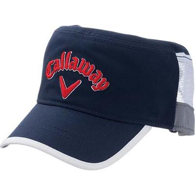 ◆即納◆キャロウェイ(Callaway) アメリカン メッシュ ワークキャップ 15 JM NVY/RED 【メンズ ゴルフ 帽子 15】の画像