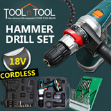 [GTC-HD18] 18V Cordless Rechargeable LED POWER Hammer Drill Tool Set/BATTERY CHECK/screwdriver