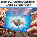 Universal Studio Singapore USS Open-Dated Ticket One day Pass 新加坡环球影城. with $5 Retail Voucher. Best Price! //