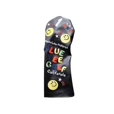 ◆即納◆ブルー ティー ゴルフ (BLUE TEE GOLF) スマイル ドライバー用 ヘッドカバー ブラック 【ゴルフ 用品 14】の画像