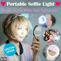 ★FUTURE OF SELFIE★ Portable Selfie Ring Light ★ For ALL Phones ★ Blogger YouTuber Light ★ Halo Effect Flash Light ★ [JIJI]