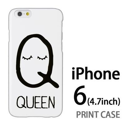 iPhone6 (4.7インチ) 用『0623 「Q」』特殊印刷ケース【 iphone6 iphone アイフォン アイフォン6 au docomo softbank Apple ケース プリント カバー スマホケース スマホカバー 】の画像