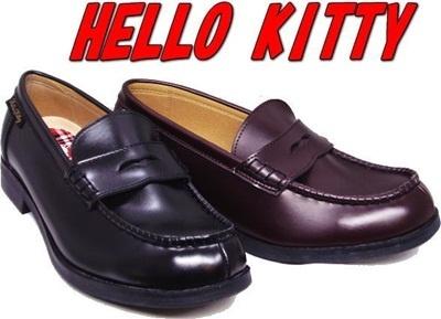 (B倉庫)SA-8107 ハローキティ レディス ローファー 通学 学生 靴の画像