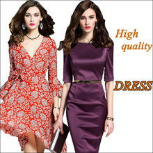 【28/3】new Promotions  High quality dress elegant dress/European British style/Office dresses
