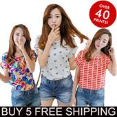 *BUY 5 FREE SHIPPING* 2016 new design lowest price  ladies chiffon top chiffon blouse shirt ladies chothing