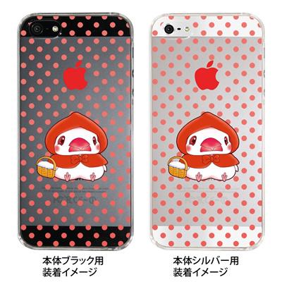 【iPhone5S】【iPhone5】【まゆイヌ】【Clear Arts】【iPhone5ケース】【カバー】【スマホケース】【クリアケース】【赤ずきん文鳥・透明】 26-ip5-md0016の画像