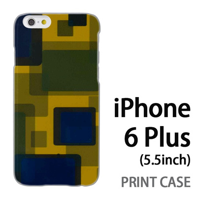 iPhone6 Plus (5.5インチ) 用『No3 四角の世界』特殊印刷ケース【 iphone6 plus iphone アイフォン アイフォン6 プラス au docomo softbank Apple ケース プリント カバー スマホケース スマホカバー 】の画像