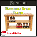 [CRAZY SALE]★Bamboo Shoes Rack Seat/Bench/Stool★Tier Shoes Storage Rack /Wooden/Bamboo Shoe Rack★