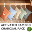 Activated Bamboo Charcoal  Remove Odours  Air Purifier  Air Freshener Harmful Pollutants Car Home Office