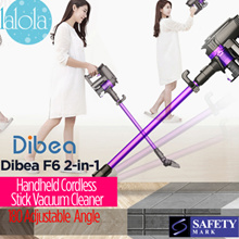 [★INTRODUCTORY SALE★] Dibea F6 2-in-1 Handheld Cordless Stick Vacuum Cleaner★ More deals inside