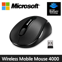 [Microsoft] Wireless Mobile Mouse 4000 / 2.4Ghz wireless / Blue Track / 4 button / bluetooth mouse