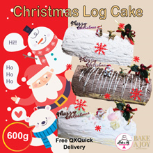 [BAKE A JOY] ❤ Christmas Premium Log Cake ❤ 3 Different Cake Flavours Available! FREE DELIVERY!