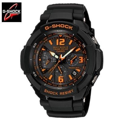 【クリックで詳細表示】【送料無料】カシオ 腕時計 G-SHOCK GW-3000B-1AJF #ブラック/オレンジ メンズウォッチ メンズ腕時計 ジーショック G-ショック 男性用 紳士用 アナログウォッチ アナログ時計