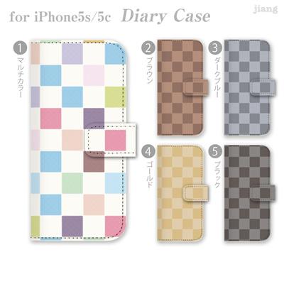 iPhone6 4.7inch ダイアリーケース 手帳型 ケース カバー スマホケース ジアン jiang かわいい おしゃれ きれい チェック柄 06-ip6-ds0022aの画像
