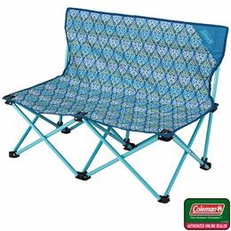 コールマン(Coleman) ファンチェアダブル(フォリッジ/ブルー) 2000022002 【キャンプ アウトドア バーベキュー 椅子 運動会】