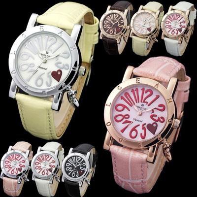【国内発送】AMORE DOLCE(アモーレドルチェ)レディース 腕時計 2つのハートで女子力アップ♪の画像