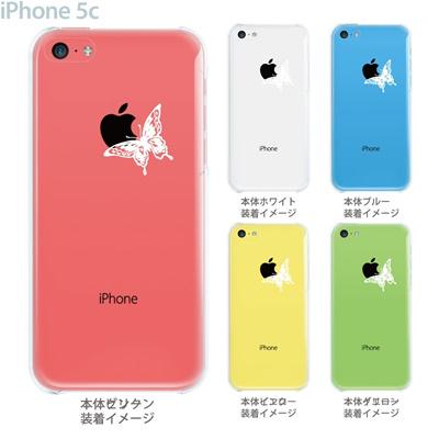 【iPhone5c】【iPhone5cケース】【iPhone5cカバー】【ケース】【カバー】【スマホケース】【クリアケース】【クリアーアーツ】【蝶】 22-ip5c-ca0008の画像