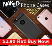 iPhone 8/7/7 Plus/6/6plus/Samsung S8/S8+ Naked Nano Nanotech Phone casing/Clear hard/soft gel case