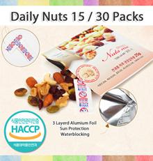 [KOREA No.1 Nuts] 15 Packs 30 Packs 60 Packs x 20gram / Walnuts Almonds Cranberries Cashews Lentils