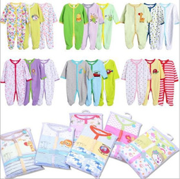 3pcs Sleepsuit Baby Rompers Baby Sleepwear